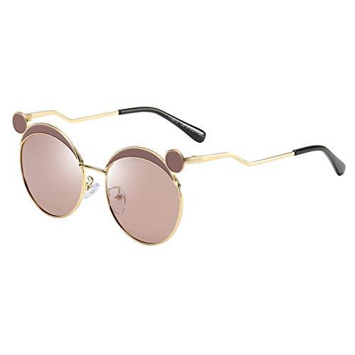 Yying Cute Vinatge Round Sonnenbrille für Kinder Polarisierte Kinderbrille mit UV-Schutz C1
