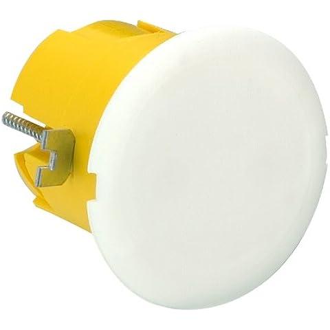 Legrand LEG91988 - Caja de empotrar para aplique en panel de yeso con embellecedor (40 mm de diámetro y profundidad)
