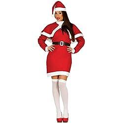 Guirca Disfraz Mamá Noel adulto, color rojo, talla L (42693.0)