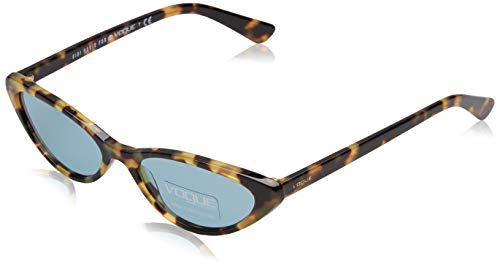 Vogue Eyewear Damen 0VO5237S 260580 52 Sonnenbrille, Gelb (Brown Yellow Tortoise/Bluee)