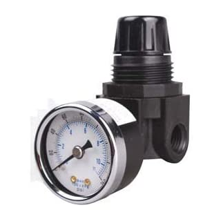 New Air Pressure Regulator 1/4 w/ Free Gauge by Arrow Pneumatics