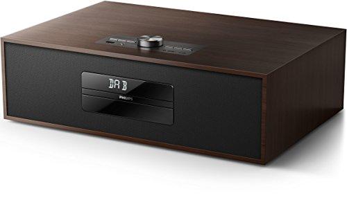 Philips BTB4800/12 Mini Stereoanlage (Bluetooth, DAB+, 30 W) dunkelbraun