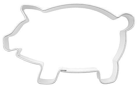 Emporte-pièce en forme de cochon rose 6,5 cm