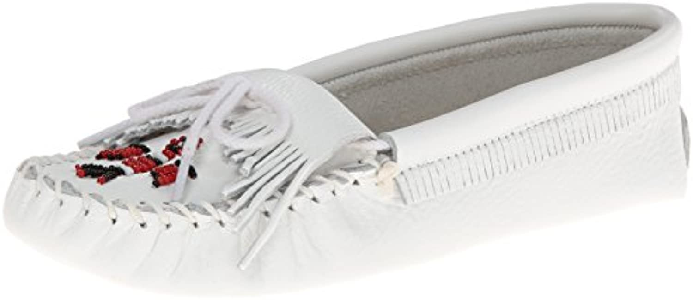 Minnetonka donna Thunderbird Softsole Moccasin,bianco Smooth,6.5 M US | Acquista  | Scolaro/Signora Scarpa