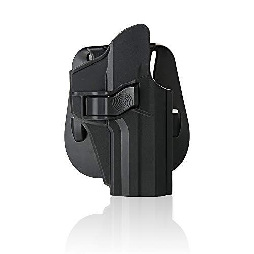 efluky HK Holster Ceinture Airsoft Pistolet Defense Gun Holster for HK USP 9mm/.40 Full Size, Paddle 60° Réglable