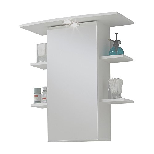 #FMD Möbel 901-008 Spiegelschrank Madrid 8, 65 x 72 x 29 cm, weiß#