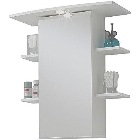 FMD Möbel 901-008 Madrid 8 - Mueble con espejo para baño (65 x 72x29 cm), color blanco