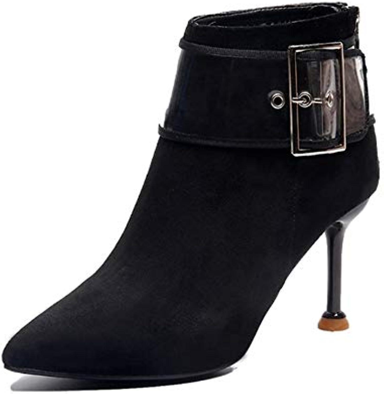 YSFU stivali Stivaletti da da da Donna Tinta Unita Scarpette da Donna Stivaletti Casual Autunno Inverno Outdoor Tacco... | benevento  4ded00