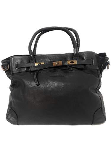 MASSIMA BARONI. Damen Umhängetaschen. Amazona Modell. Italienische Vintage Ledertasche. Elegant, zeitlos, leicht und groß (schwarz) - Gucci Authentischen Handtasche Tasche