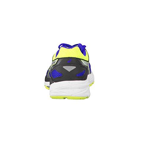 Asics chaussures de course homme gel fortitude (2E) t5G3N 7 Bleu - Asics Blue/Flash Yellow/Black