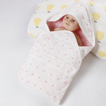 Artic Winter Liner (Musselin, Baby Decke 0–3Monat Unisex Junge Mädchen 100% reine Baumwolle Powder point (6 layers) 90cm*90cm)