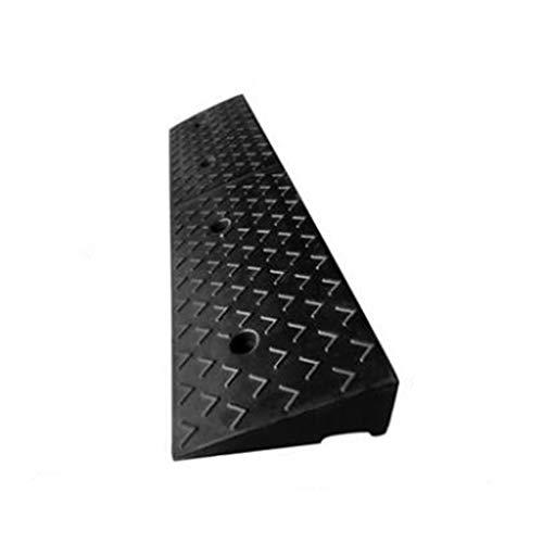 ChenB- Small Tools 11CM Dreieck-Rampen, Schritt-Tür-Gleitschutzrampen-Schwarz-Gummi-Sicherheitsrampen-Auto-Motorrad-Kandaren-Rampen-Unterseiten-Gitter-Entwurf (Color : Black)