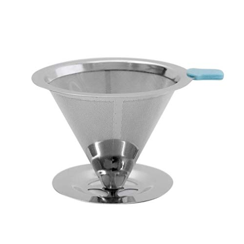 vngfghjjhkhjk Wiederverwendbare Kaffeefilterhalter-Sets Edelstahl Brew Drip Kaffeefilter