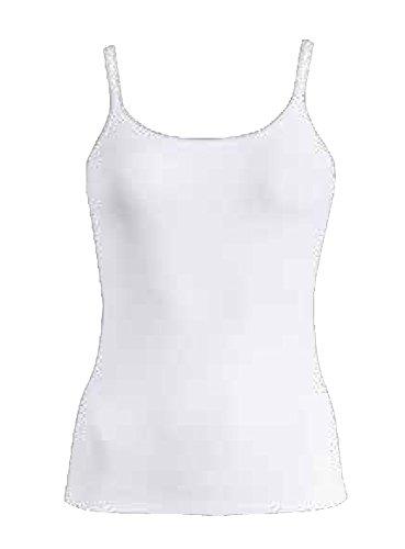 Damen Top, Damen Achseltop, Damen Bikini-Slip, Damen Hipster-Panty- Wäsche Serie, aus Baumwolle, Farbe: weiß, schwarz- by Schöller, 3er Pack Top-weiss