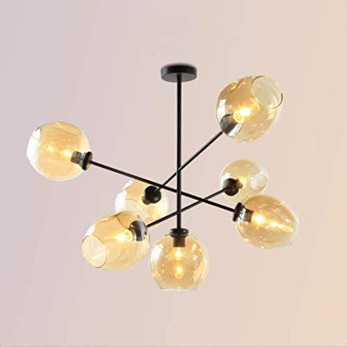 AXCJ Kronleuchter - die Moderne Beleuchtung der Metall-Anhänger der Beleuchtung Hängeleuchte Kronleuchter - S auf der Decke bis 7 ist offensichtlich, Gold Finish Befestigung Innenbeleuchtung Flush,Sc -