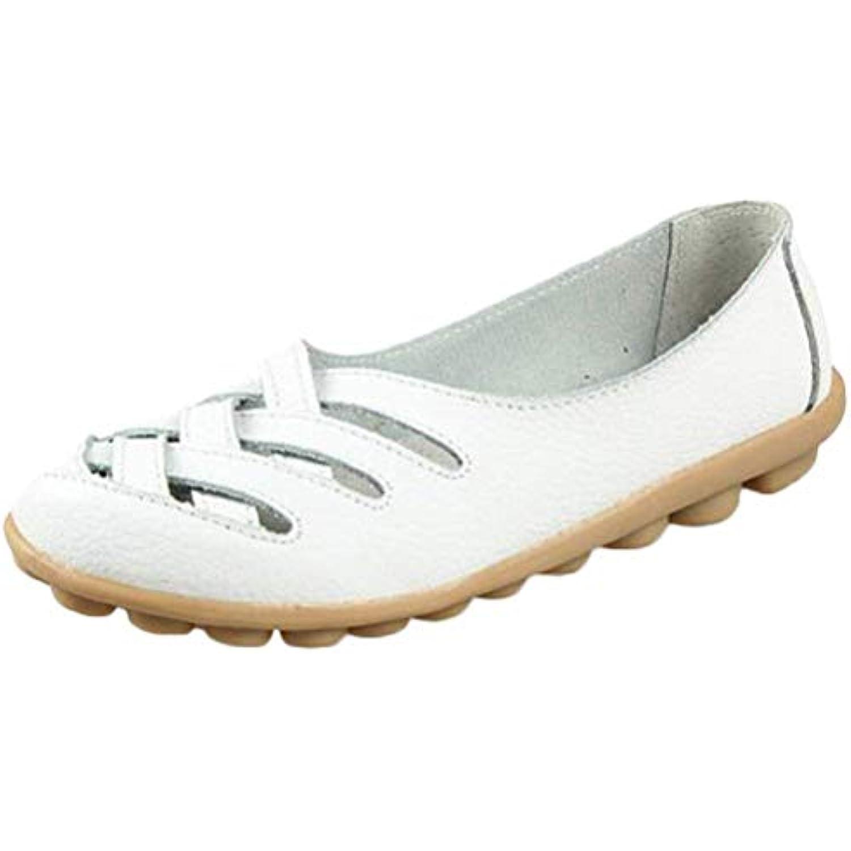 ZHRUI Nouveau Mocassins en Cuir pour Femmes Femmes Femmes Mocassins  s Slip ONS (coloré : Style 1-White, Taille : 7/7.5... - B07JZBDBMJ - ace708