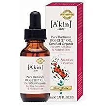 A'Kin aceite puro de rosa mosqueta orgánico Resplandor (23 ml) (Paquete de 4)