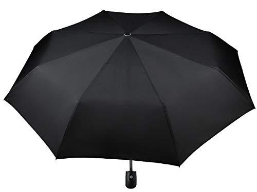 Iso Trade Taschenschirm Auf-Zu Automatik 110cm Mini Regenschirm Winddicht schwarz #3406
