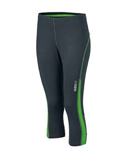 Ladies 'Running 3/4 aderenti da donna 3/4 Pantaloni da corsa * Colore: Colori assortiti * Taglia XS a XXL Iron-Grey/Green