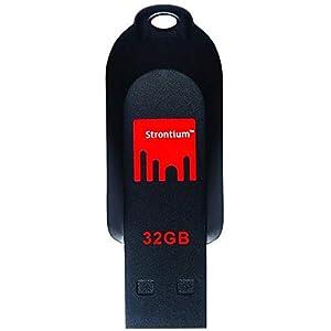 Strontium Pollex 32GB Flash Drive (Black/Red)