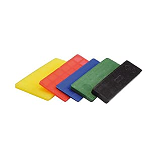 SILISTO Kunststoff Verglasungsklötze Breit, 600 Stück, 100 x 24 mm, mehrfarbig, 53524bs