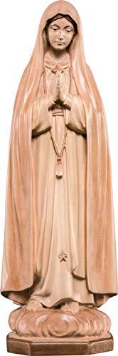 Ferrari & Arrighetti Imagen de la Virgen de Fátima en Talla de Madera Encerada con 3 Tonos Que Mide 12 cm - Demetz Deur