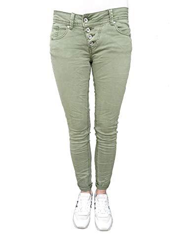 Buena Vista Damen Jeans Malibu Stretch Twill Khaki Green Khaki Green L (Hose, Khaki Damen)