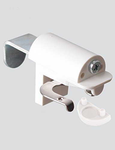 KLEMMFLEX Klemmträger BFX25 für Jalousien zur Montage direkt auf den Fensterflügel ihres PVC-/Kunststofffensters - Farbe: weiss - OHNE BOHREN - 1 Paar = 2 - Weiße Holz-jalousien