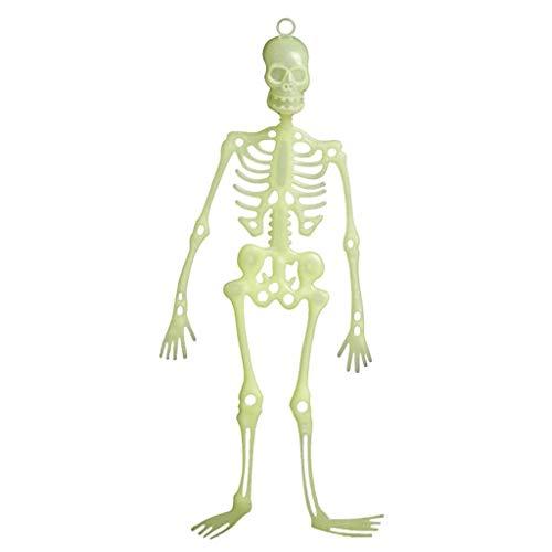 WOBANG Halloween Dekoration Leuchtendes Skelett Dekoration/Anhänger Patch Familie Laterne Aufblasbare Dekorationen deko für Hausgarten Rasen Garten Party Indoor Outdoor Halloween Dekoration