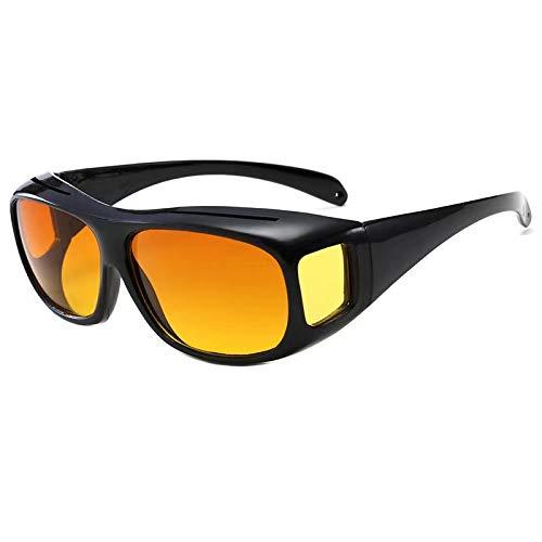Waymeduo überzieh Nachtsichtbrille für Autofahrer, für Brillentr?ger, get?nte polarisierende Gl?ser