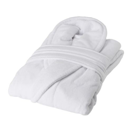 Ikea njuta Albornoz en color blanco; tamaño s/m
