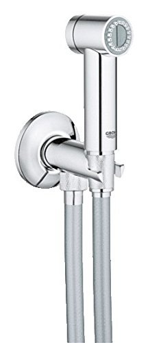 Preisvergleich Produktbild Grohe Sena Handbrause mit Druckknopf Schlauch 1m