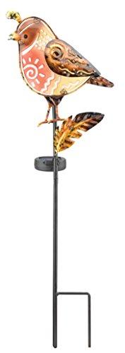 Butterfly Outdoor-dekor (Regal Art & Geschenk Solar dem Spiel, Wachtel)
