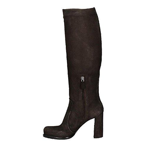 Prada Stiefel kniehoch in Dark Brown Chamoisleder - Modellnummer: 1W158G 008 F0003 Dunkelbraun
