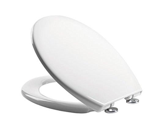t Close mit Top Fix Beschläge glänzend weiß WC-Sitz Cover–Modell 0803sc (Schwarz Und Weiß Halloween-seite)