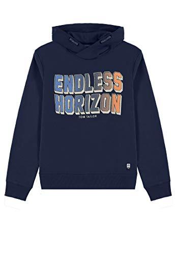 TOM TAILOR Kids Jungen Placed Print Sweatshirt, Blau (Dress Blue 3043), (Herstellergröße: 152) -