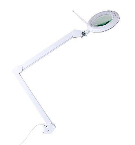 Showlite LL-6095D-Pro LED Lupenleuchte 9W 3/5 Dioptrien (Lupenlampe, dimmbar, 127 mm Linse, 60 SMD...