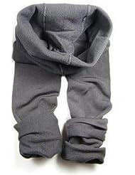 &zhou Además de terciopelo engrosamiento mujer caliente invierno leggings pantalones moda elasticidad , gray , step foot