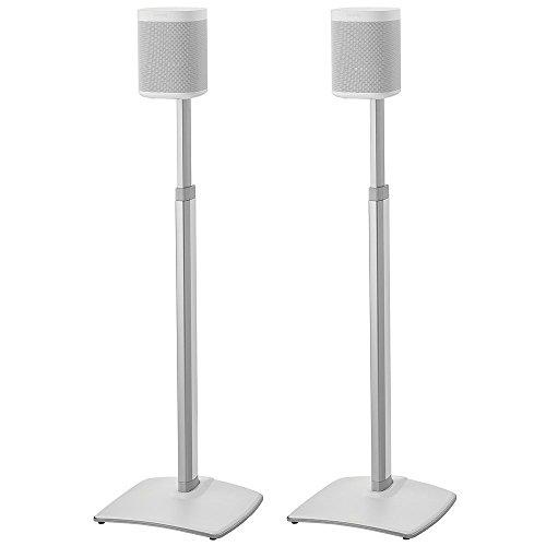 Sanus Höhe verstellbare Lautsprecher-Ständer in kabellos Paar für Sonos One Play: 1und Play: 3-weiß