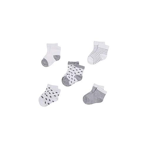 5Pairs Neugeborenes Baby Bio-Baumwolle Socken Soft Breathable Knöchel-Fußboden-Socken Für 0-12months Säuglingskleinkind -