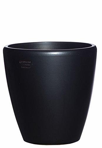 Hentschke Keramik Pflanztopf/Pflanzkübel frostsicher Ø 40 x 40 cm, Anthrazit, 029.040.70 Blumenkübel für Draußen + Innen - Made in Germany Aus Keramik