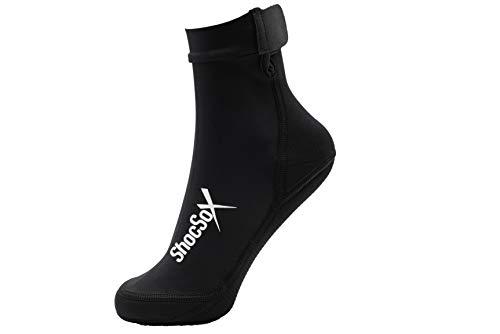 ShocSox Elite Sand-Beach Socken für Volleyball, Fußball, Tennis, Ultimate, Yoga, Lacrosse, Laufen, Training, und Snorkeling- alle Sand Sport Socks, schwarz (Geist Recorder)