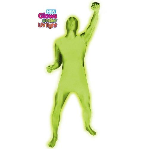 Halloween Party UV Glow Morphsuit Ganzkörperanzug grün, (Glow Morphsuit)