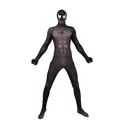 Qxmei venom spiderman guardian cosplay tight clothing bambino adulto halloween costume cosplay,black-s