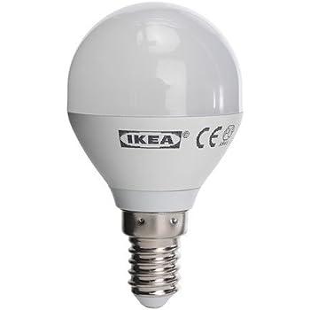 ikea ledare led lampe e14 rund in opalwei 200 lumen k che haushalt. Black Bedroom Furniture Sets. Home Design Ideas