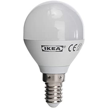 ikea ledare led lampe e14 rund in opalwei 200 lumen k che haushalt. Black Bedroom Furniture Sets. Home Design Ideas
