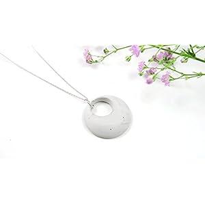 (925 Silber) Beton Kette Kreis