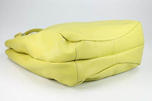 Belli sac à shopping shopper ® xXL étui en cuir couleur au choix :  46 x 34 (au milieu) x 14 cm (l x h x p) Jaune - Light Gelb