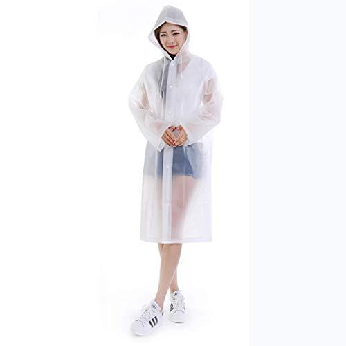Preisvergleich Produktbild GLJJQMY Regenmantel Poncho Eva Material Lange transparente Wiederverwendbare tragbare Outdoor-Regenschutzhülle Wasserdichter Regenponcho