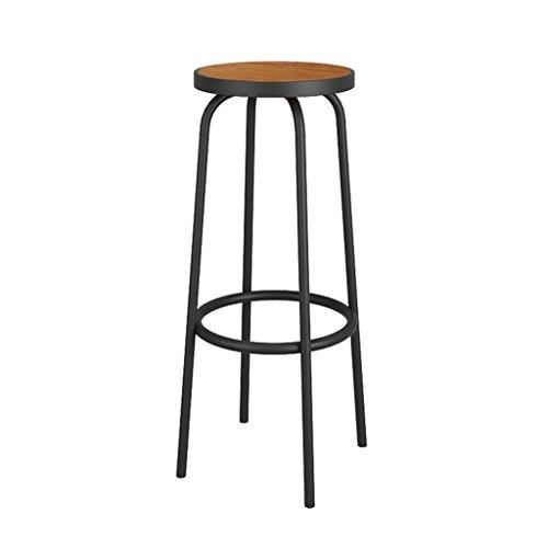 Barhocker, Massivholz Ottoman, Eisen Lounge Chair, 1 Stück, Schwarz, 30 * 70 Cm (Und Lounge Chair Ottoman)
